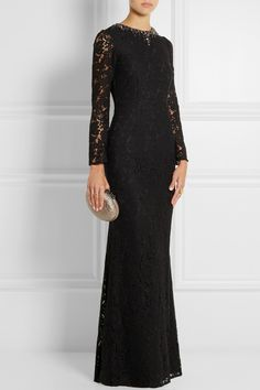 Needle & Thread Embellished floral-lace gown NET-A-PORTER.COM