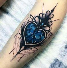 Tattoo heart dotwork ink 44 Trendy Ideas - My list of best tattoo models Gem Tattoo, Jewel Tattoo, Crystal Tattoo, Lace Tattoo, Design Tattoo, Mandala Tattoo Design, Heart Tattoo Designs, Heart Tattoos, Tatoos