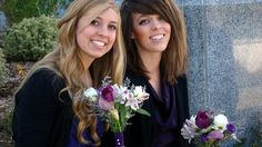 This is a photo of Miranda and Heather.  Great looking twins.