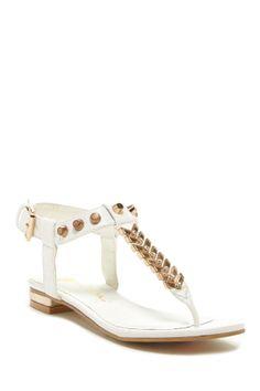 Janelle Studded T-Strap Sandal//