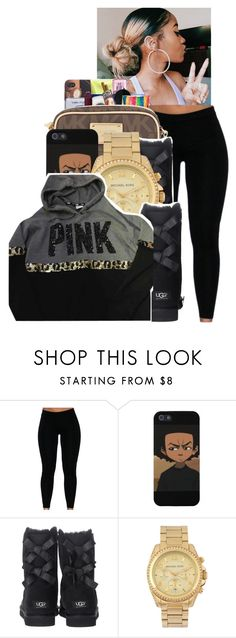""""" by ayeeitsdessa ❤ liked on Polyvore featuring UGG Australia, Michael Kors and Victoria's Secret"