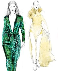 Fashion Illustration by Candace Napier for Styledby.com.au