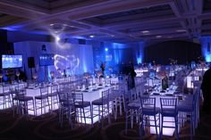 Lots of Seating!!  We can light up the tables any color.