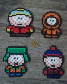 South Park Main Character Perler Beads