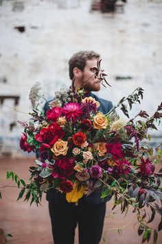 Groom's Bouquet | | Moody Wedding Inspiration | Izzy Hudgins Photography | Bridal Musings Wedding Blog