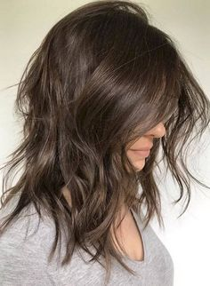 Haircuts For Wavy Hair, Cute Hairstyles For Medium Hair, Curly Hair Cuts, Medium Hair Cuts, Curly Hair Styles, Medium Haircuts For Women, Wedding Hairstyles, Easy Hairstyles, Long Shaggy Hairstyles