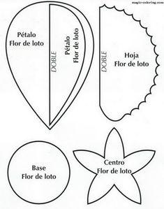 MAGIC-COLORING | Water lily flower template - водяная лилия 12 выкройка