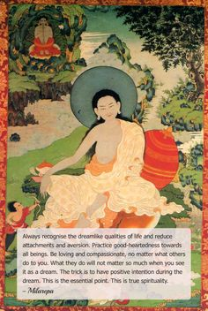 Jetsun Milarepa, is generally considered one of Tibet's most famous yogis and poets. He was a student of Marpa Lotsawa, and a major figure in the history of the Kagyu school of Tibetan Buddhism.