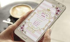 Convite digital realeza   texto Livre
