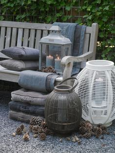 If weather permits... create a romantic winter setting outside on your terrace or balcony.