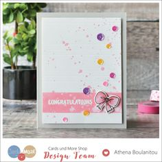 New baby girl congratulations card | Using small images | Craft For Joy Designs