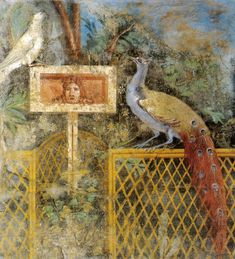 Ancient Roman fresco from Pompeii.    Courtesy & currently located at the National