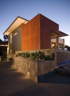 Modern House Design Built of Eco-Friendly Radial Timber - Designed by Australia's Graham Jones Design