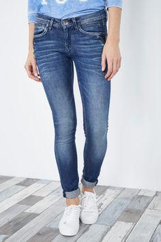 Venda Pepe Jeans / 28240 / Mulher / Calças de ganga slim e skinny / Calças de ganga slim Azul-marinho