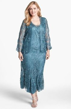 Soulmates Three Piece Silk Crochet Jacket, Top & Skirt (Plus Size) available at #Nordstrom