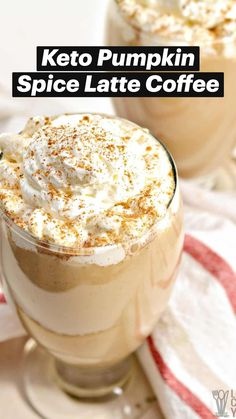 Low Carb Sweets, Low Carb Desserts, Low Carb Recipes, Cooking Recipes, Keto Coffee Recipe, Coffee Recipes, Pumpkin Recipes, Low Carb Drinks, Keto Drink