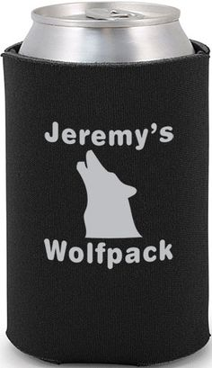 Bachelor Party Wolfpack Can Cooler #bachelor #wedding #favors
