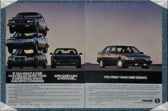 Original Print Advertisement For The 1986 Saab 9000 Turbo