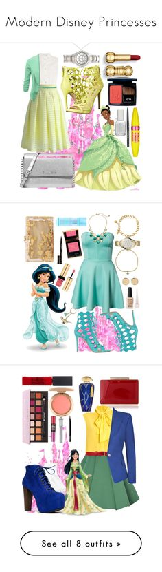 Modern Disney Princesses by lovelyemilyk on Polyvore featuring polyvore, fashion, style, Disney, Armani Jeans, Chicwish, Chloé, GUESS, Michael Kors, Alex and Ani, Love This Life, H&M, Christian Dior, Maybelline, Stila, Essie, modern, clothing, Club L, Kate Spade, Gianvito Rossi, FOSSIL, Sydney Evan, Magdalena Frackowiak, Zimmermann, Christian Louboutin, Yves Saint Laurent, Smith & Cult, Charlotte Olympia, Moschino, WithChic, Gucci, Balmain, Hue, Speed Limit 98, Morgan Lane, NARS Cosmetics…