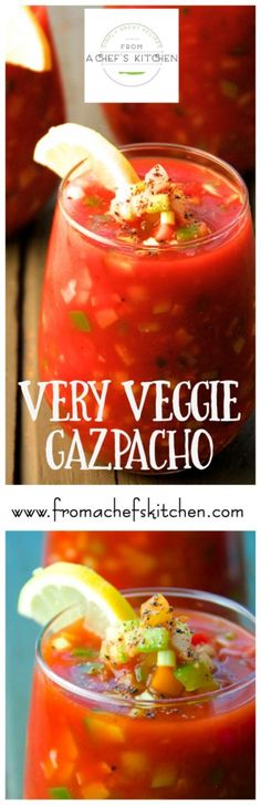 This crunchy and chunky version of gazpacho, the classic cold Spanish soup is as refreshing as it gets on a hot summer day.