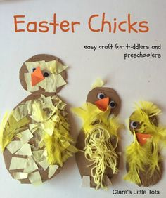 Fun and easy Easter chicks craft idea for toddlers and preschoolers.
