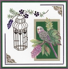 Jeanine's Art - In the Tropics - Martine Rippe Bird Cage, Rooster, Tropical, Cards, Animals, Animales, Animaux, Animal, Maps