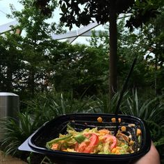 #healthy #dinner at @canary___wharf #roofgarden chillaxing in the hidden garden with my tasty @subway #canarywharf #london #secretgarden #beautiful #scenery #salad #health #diet #subway #fresh #tranquil #thatlondonguyblog by thatlondonguyblog