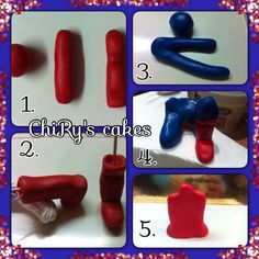 Tutorial Spiderman - step 1 #tutorial #spiderman #uomoragno #step1 #fondant #pdz…