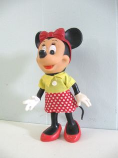 1960s Minnie Mouse Doll in Original Bag Awesome by retroEra.
