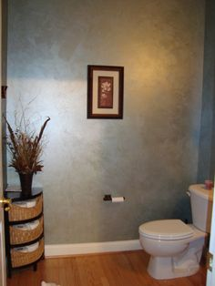 Elegant Powder Room, I fell in love with this color. Its Brushed Pearl - In a Haze by Valspar. , Bathrooms Design