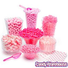 Pink Candy Buffet Kit: 25 to 50 Guests - You're never too old for a pink candy buffet...