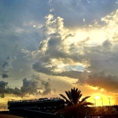 Sunset over Daytona International Speedway before the big race!