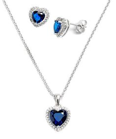 Another great find on #zulily! Deep Blue Swarovski® Crystal Birthstone Heart Necklace & Earrings #zulilyfinds