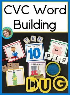 Kindergarten and preschool children need lots of practice sounding out words, and these adorable CVC cards make it easy and fun!  Skip the worksheets, give your students hands on learning activities by pairing your favorite letter manipulatives with these beautiful self checking cards.  There are 90 two sided cards - 18 for each vowel, so there's plenty for your whole class!   Add them to your literacy centers today and watch your flourish! Kindergarten Reading Activities, Reading Resources, Learning Activities, Abc Learning, Teaching Ideas, Sounding Out Words, Short Vowel Sounds, Learning Targets, Learning Stations