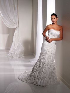 Bridal Gown -Ruching & Ruffles