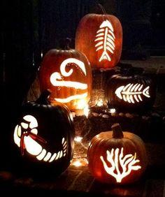 Carving It Coastal -Jack O Lanterns with a Sea Theme.