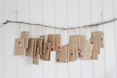 Christmas Calendar - each day gives a parcel note, with a clue inside, which leads to an advent daily surprise Days Until Christmas, Merry Little Christmas, Rustic Christmas, Christmas Holidays, Christmas Decorations, Christmas Ideas, Christmas Design, Winter Holidays, Winter Christmas