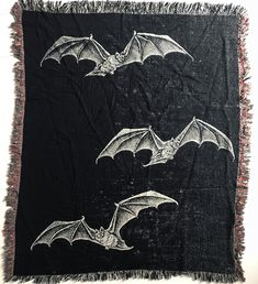 x woven cotton blankets. Made in the USA. Gothic House, Victorian Gothic, Macabre Decor, Gothic Culture, Creepy Houses, Gothic Bedroom, Goth Home, Gothic Home Decor, Skull And Bones