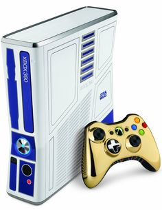 R2-D2 Xbox 360 & C3-PO controller