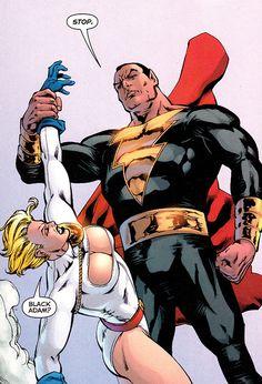 Black Adam vs Power Girl