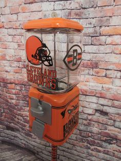 Cleveland Browns inspired vintage gumball candy machine + stand gift man cave living room decor Birthday game room bar Christmas gift by CustomGumballMachine on Etsy Game Room Bar, Game Room Basement, Basement Ideas, Basement Office, Basement Designs, Basement Remodeling, Playroom, Man Cave Living Room, Living Room Decor