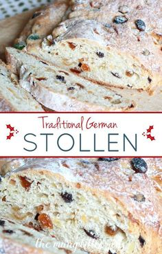 Traditional German Stollen (Christmas bread) – The Many Little Joys This light, sweet bread dotted with candied fruit and nuts is a tasty Christmas tradition from Germany that our family has enjoyed for years, and I'm sure yours will, too! Stollen Bread, German Stollen, German Bread, German Baking, German Christmas Stollen Recipe, German Christmas Traditions, German Christmas Markets, Christmas Bread, Healthy Cooking Recipes