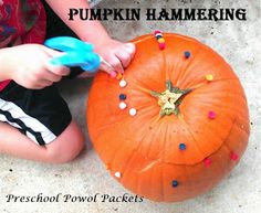 Preschool Powol Packets: Pumpkin Hammering