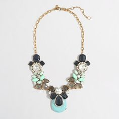 stone collage necklace