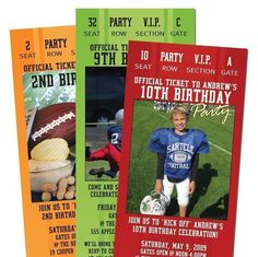 "Personalize these ticket invites for a ""Tailgate"" theme couples shower or engagement party"