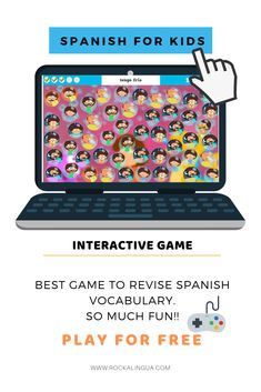 Bubbles game | Rockalingua  Interactive game to revise vocabulary. School, emotions, parts of the body....  Games for kids Spanish lesson. Spanish as a second language. Fun games for primary students. #teachSpanish #Spanishforkids Spanish Help, Spanish Lessons For Kids, Spanish Games, Spanish Vocabulary, Teaching Spanish, Fun Games, Games For Kids, Bubble Games, Second Language