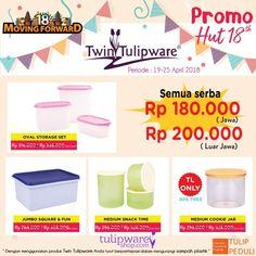 3 M - Promo HUT Twin Tulipware ke-18 tahun 2018. Semua serba harga Rp.180.000,- 3 M - Murah | Meriah | Mantap  #tulipware #twintulipware #tulipwaremurah #tulipshop www.tulipwareshop.com