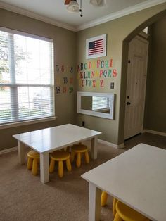 Classroom Homeschool Pottery Barn Kids Activity Tables www.stylewithcents.blogspot.com