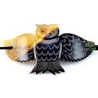 OWL Organic Horn Hair Barrette Handmade by quecraft on Etsy Owl Jewelry, Jewellery, Hair Barrettes, Hair Combs, Festival Gear, Cow Horns, Hair Sticks, Girls Be Like, Keep Warm