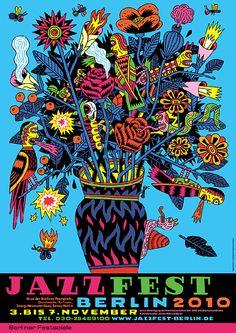 Jazzfest.    Poster by Henning Wagenbreth.